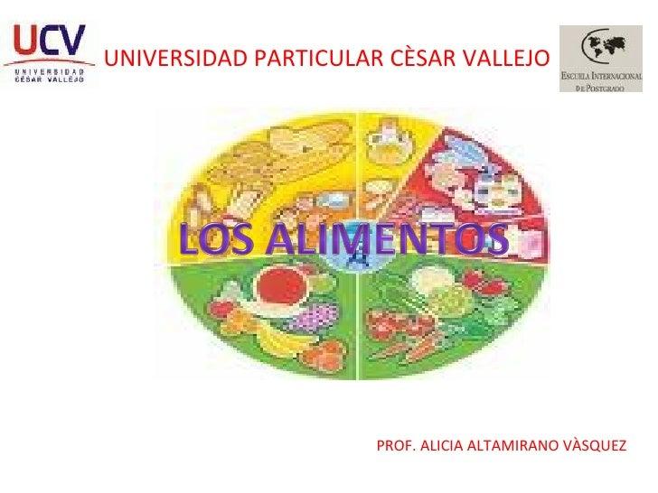 UNIVERSIDAD PARTICULAR CÈSAR VALLEJO PROF. ALICIA ALTAMIRANO VÀSQUEZ