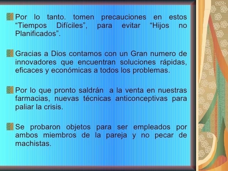 Los Anticonceptivos Slide 3