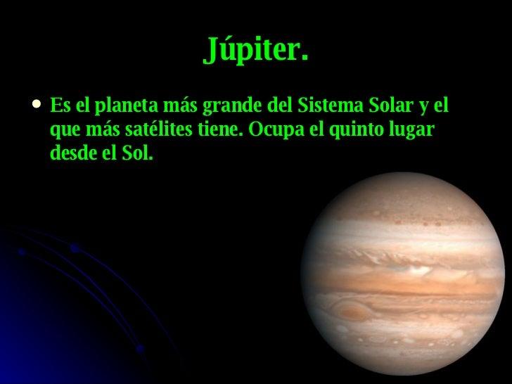 cual es el planeta mas grande del sistema solar los astros