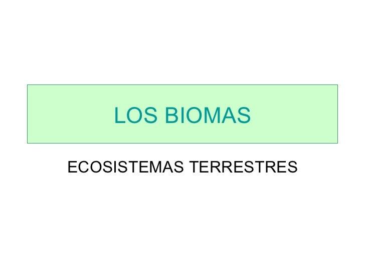 ECOSISTEMAS TERRESTRES LOS BIOMAS