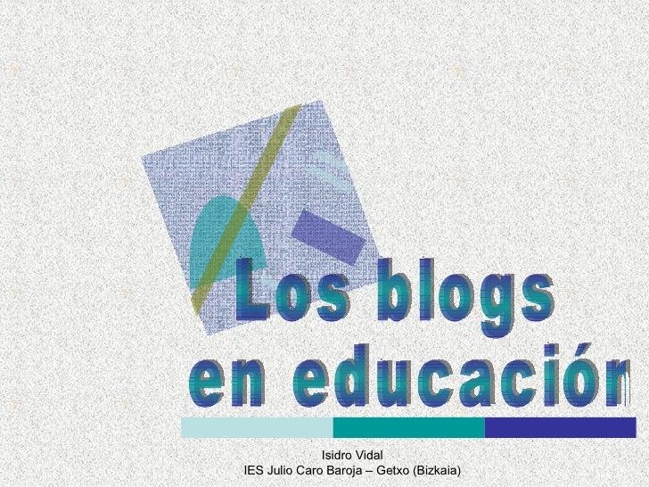 Los blogs en educación