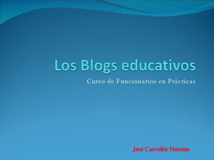 Curso de Funcionarios en Prácticas José Carcelén Moreno