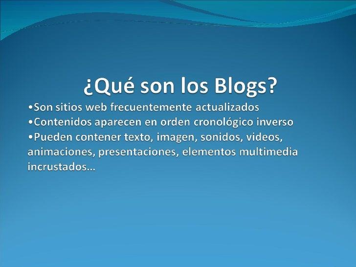 Los Blogs Educativos Slide 2