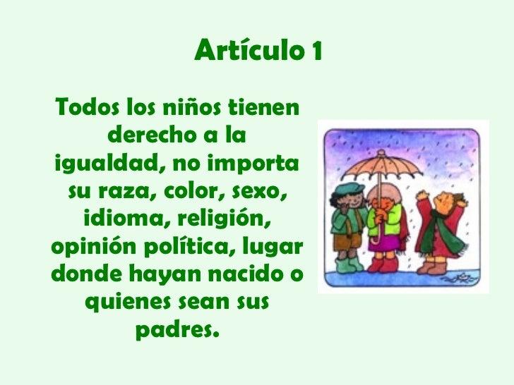 Los Derechos Del Niño Slide 2