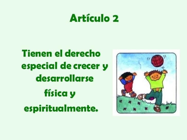 Los Derechos Del Niño Slide 3