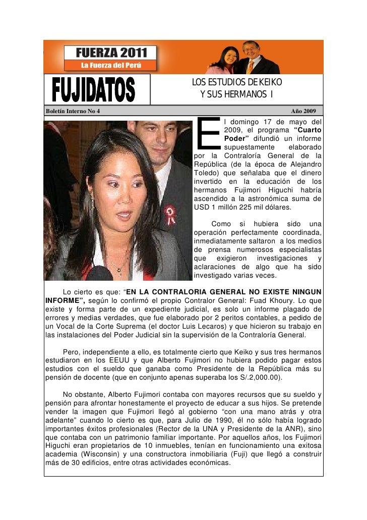 LOS ESTUDIOS DE KEIKO                                              Y SUS HERMANOS I Boletín Interno No 4                  ...