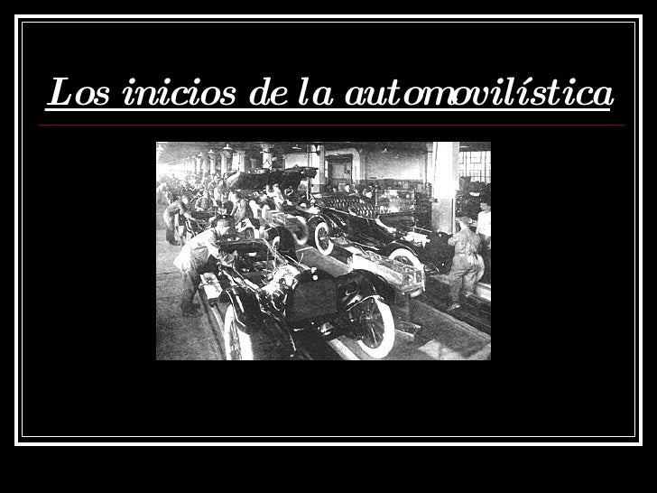 Los inicios de la automovilística