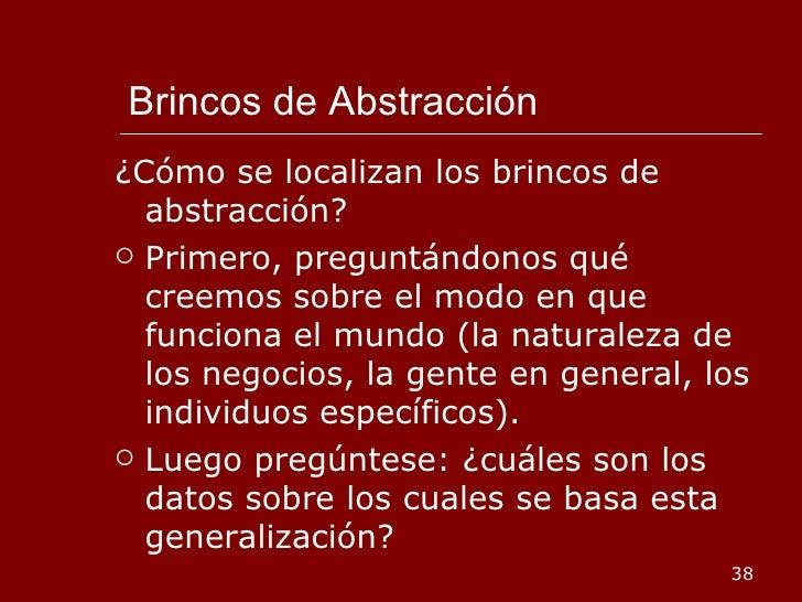 Brincos de Abstracción <ul><li>¿Cómo se localizan los brincos de abstracción? </li></ul><ul><li>Primero, preguntándonos qu...