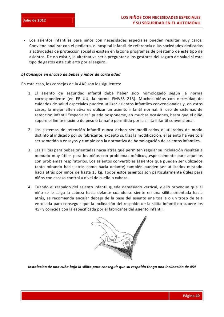 LOS NIÑOS CON NECESIDADES ESPECIALES Julio de 2012                                                                Y SU SEG...
