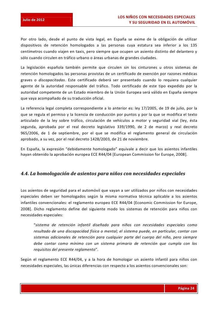 LOS NIÑOS CON NECESIDADES ESPECIALES Julio de 2012                                                          Y SU SEGURIDAD...