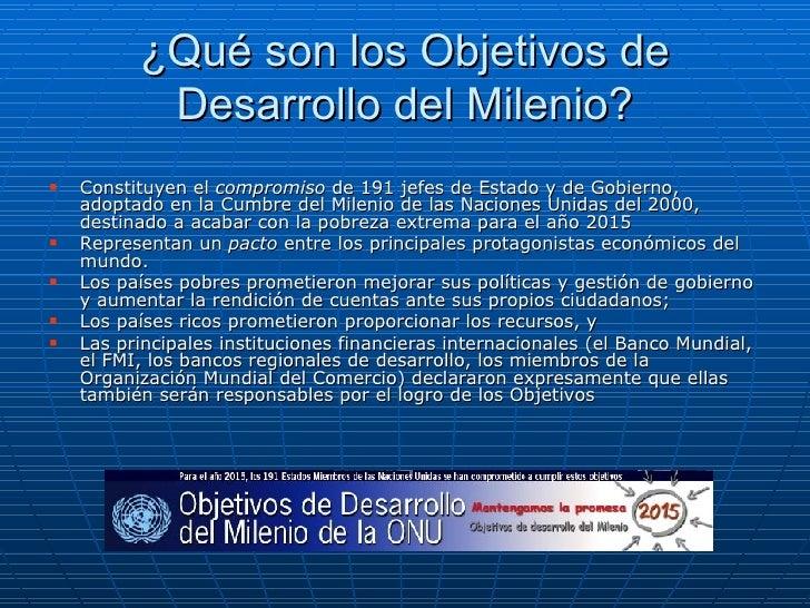 Los Objetivos Del Milenio Slide 2