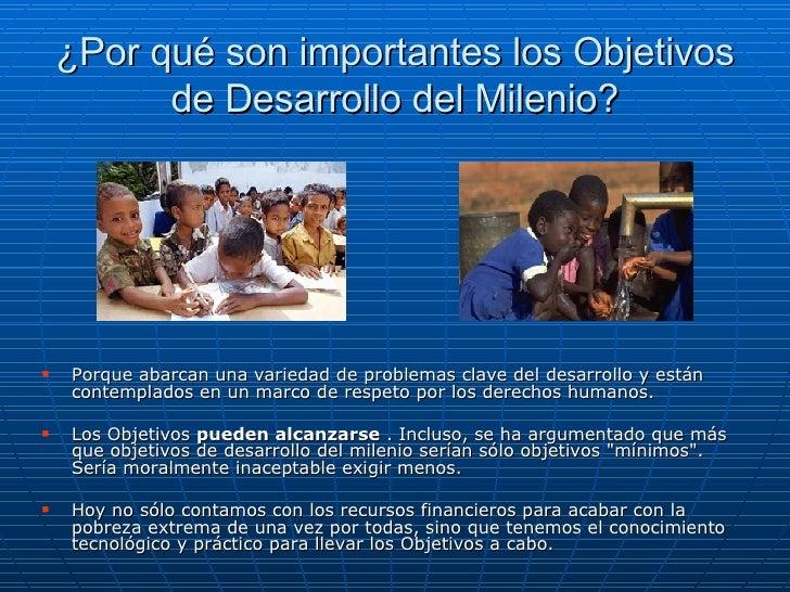 Los Objetivos Del Milenio Slide 3