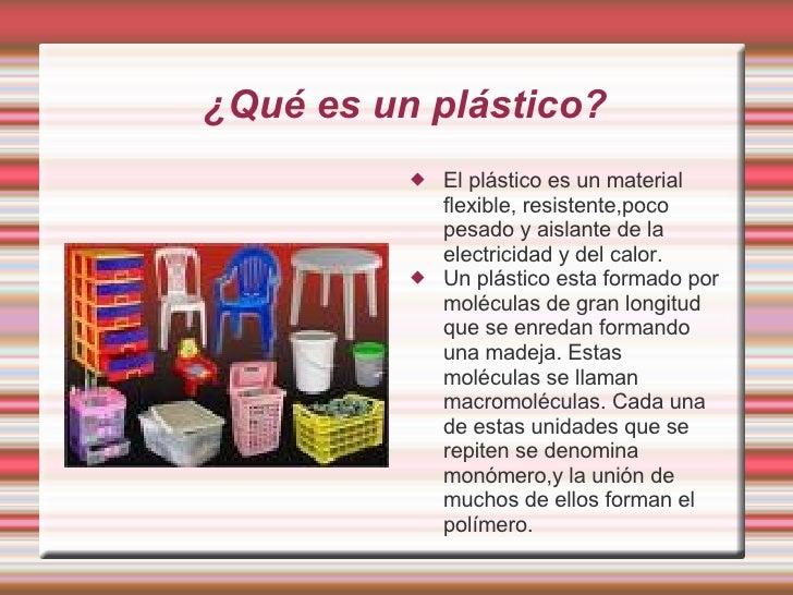 Los pl sticos - El material aislante ...