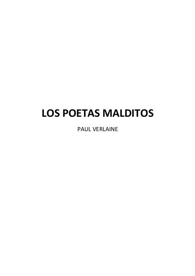 LOS POETAS MALDITOS PAUL VERLAINE