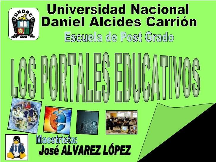 Maestrista: Universidad Nacional Daniel Alcides Carrión Escuela de Post Grado