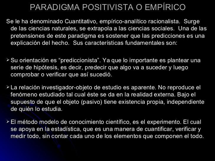 Los Tres Paradigmas en Investigación Slide 2