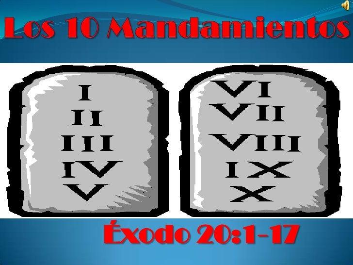 Éxodo 20:1-17