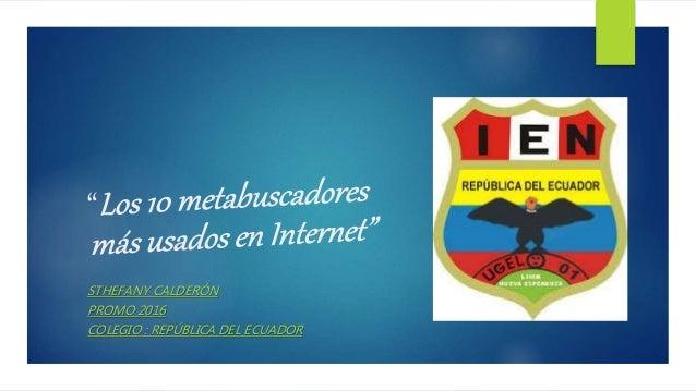 STHEFANY CALDERÓN PROMO 2016 COLEGIO : REPÚBLICA DEL ECUADOR