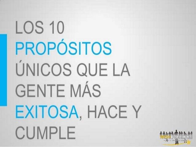 Los 10 propositos