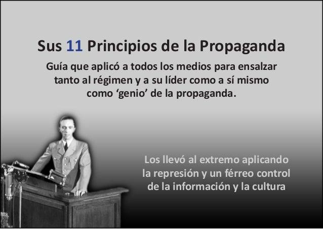 Resultado de imagen para 11 principios de la propaganda