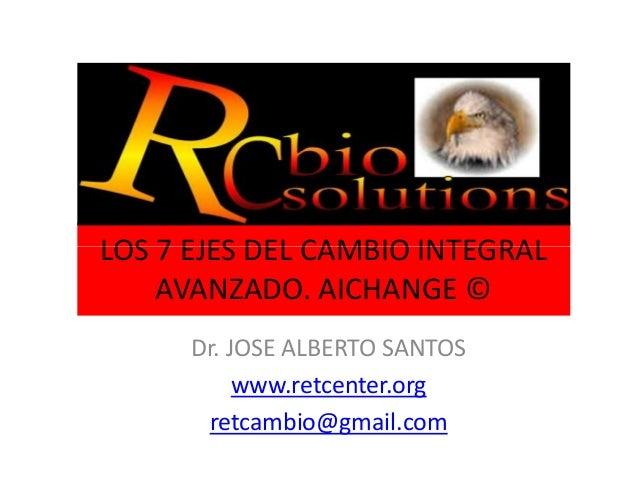 LOS 7 EJES DEL CAMBIO INTEGRALLOS 7 EJES DEL CAMBIO INTEGRAL AVANZADO. AICHANGE © Dr. JOSE ALBERTO SANTOS www.retcenter.or...