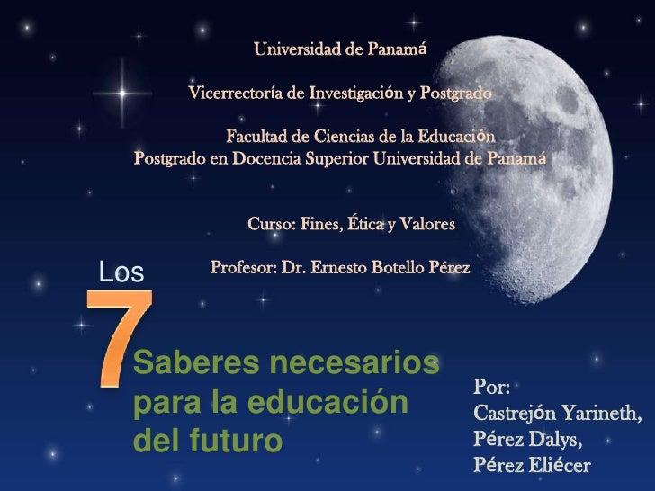 Universidad de PanamáVicerrectoría de Investigación y Postgrado             Facultad de Ciencias de la Educación   Postgra...