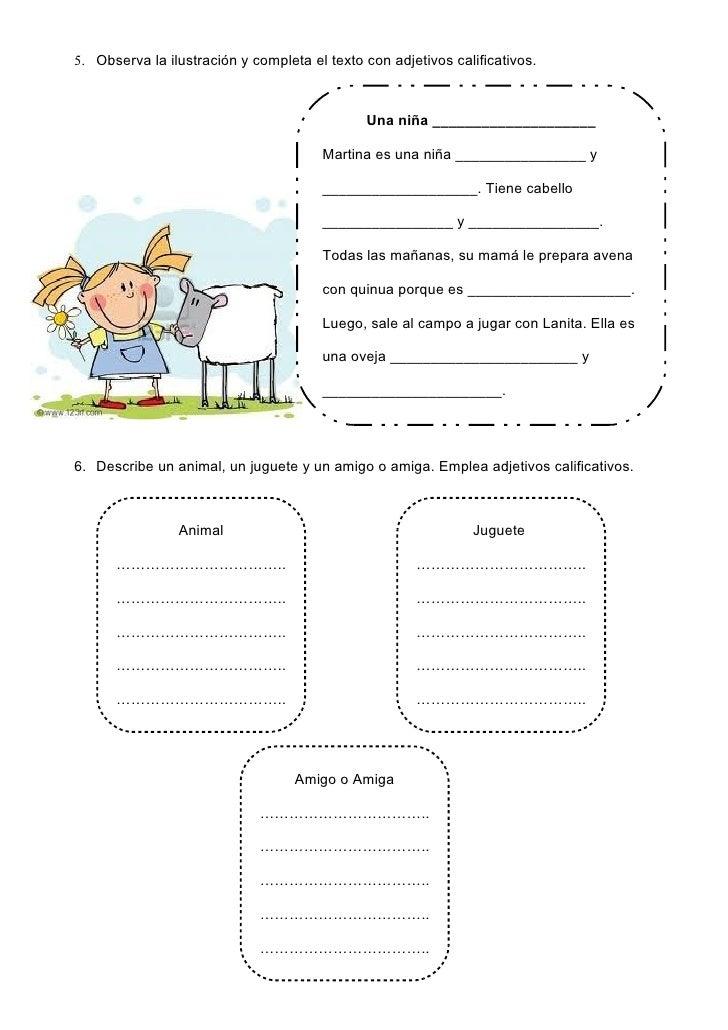 Los adjetivos calificativos Slide 3