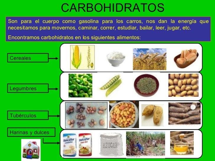 Los alimentos - Que alimentos contienen carbohidratos ...