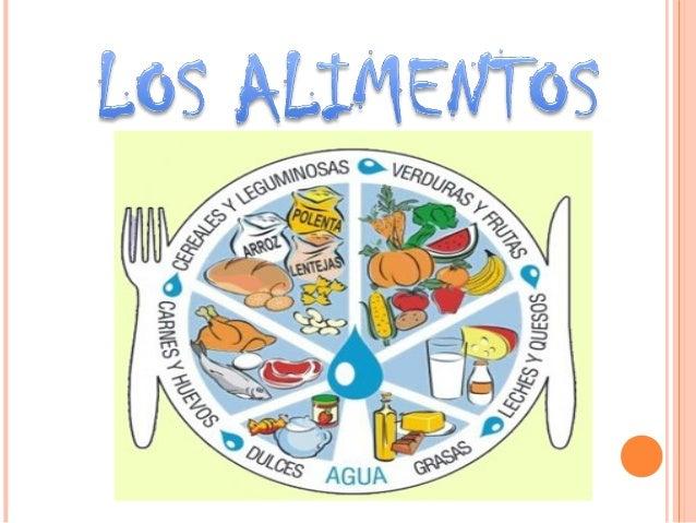 LOS ALIMENTOS  Son sustancias nutritivas que al ser digeridas y asimiladas por el organismo le proporcionan la energía y ...