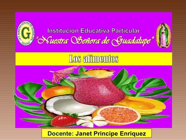 Docente: Janet Principe Enriquez