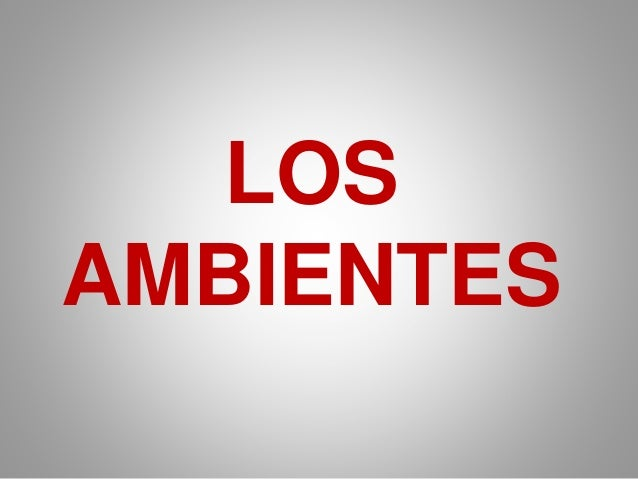 LOS  AMBIENTES
