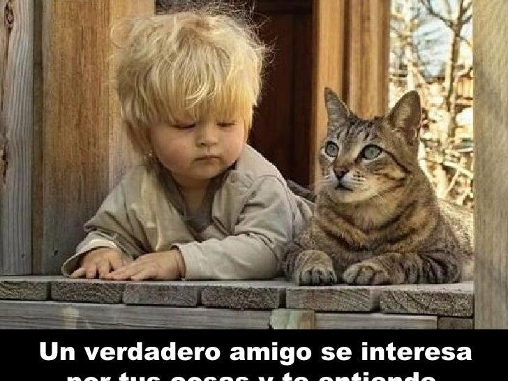 Un verdadero amigo se interesa por tus cosas y te entiende