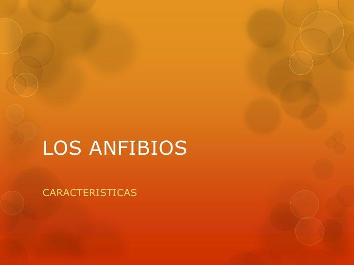 LOS ANFIBIOSCARACTERISTICAS