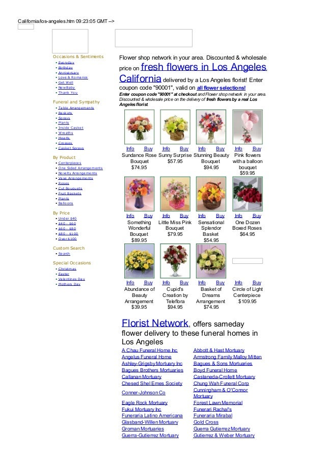 California/los-angeles.htm 09:23:05 GMT -->               Occasions & Sentiments          Flower shop network in your area...