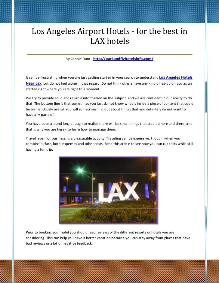 Los Angeles Airport Hotels - for the best in                    LAX hotels________________________________________________...