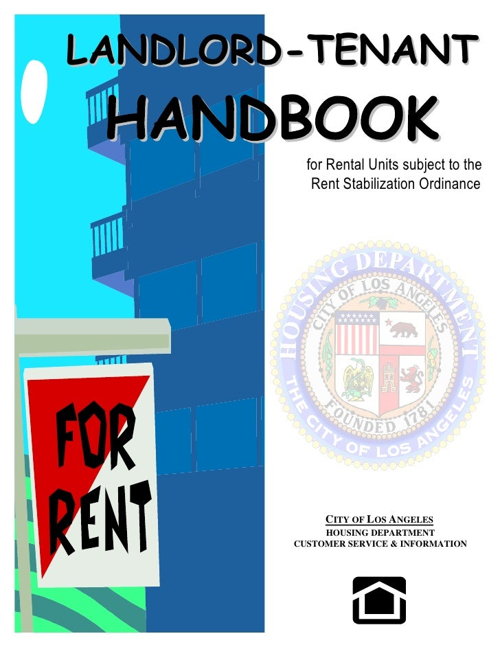 LANDLORD-TENANT            for Rental Units subject to the            Rent Stabilization Ordinance                  CITY O...