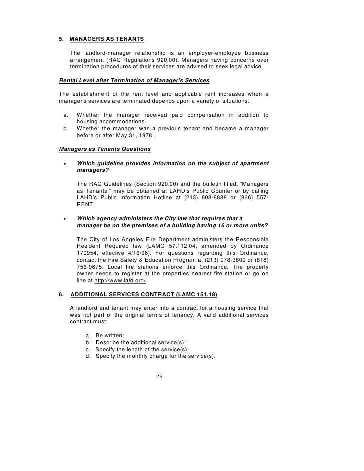 Rental Renewal Form. 32 Los Angeles Rent Stabilization Handbook ...