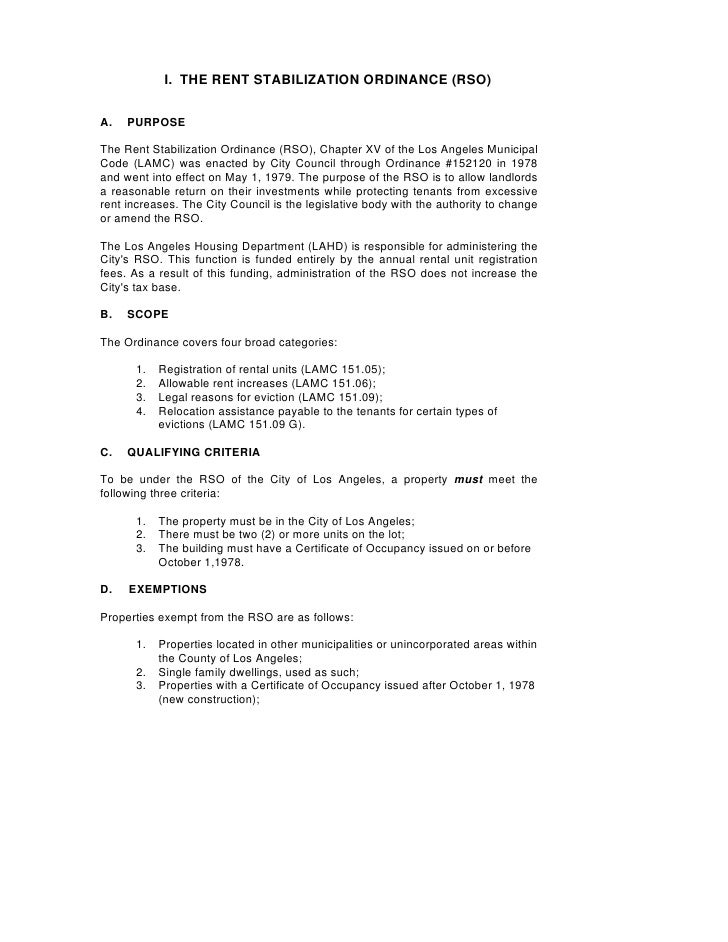 Los Angeles Rent Stabilization Handbook (Rent Control)