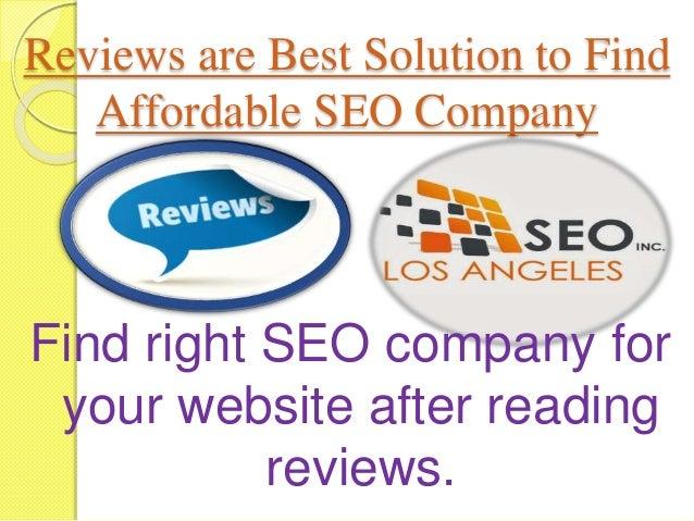 Los Angeles SEO Company Reviews Once you choose right SEO company