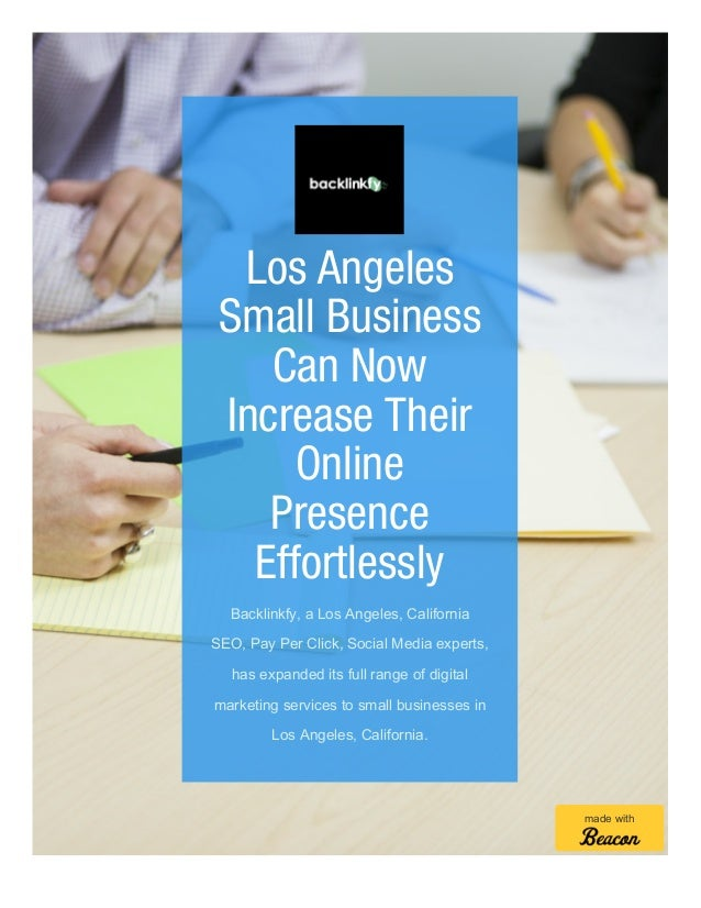 Los Angeles Small Business Digital Marketing Services