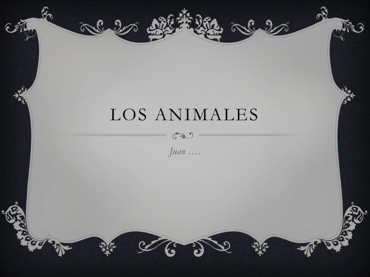 LOS ANIMALES    Juan ….
