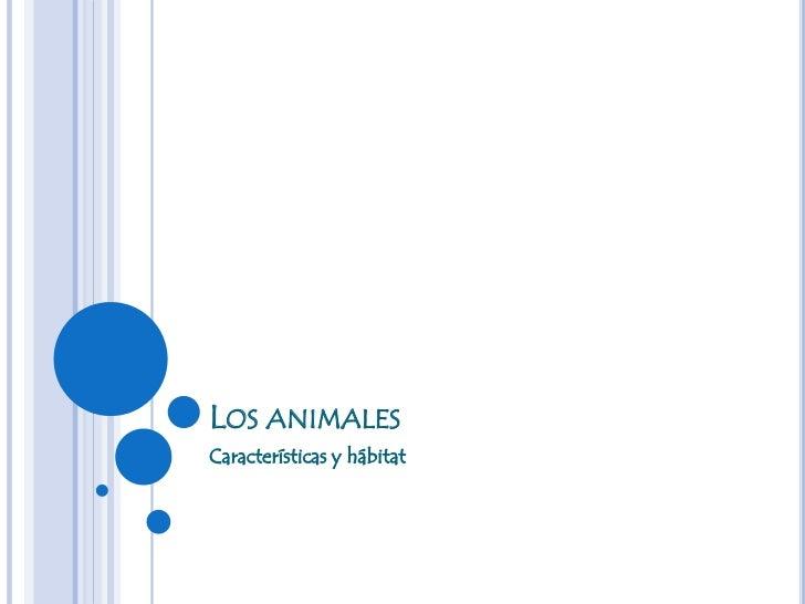 LOS ANIMALESCaracterísticas y hábitat