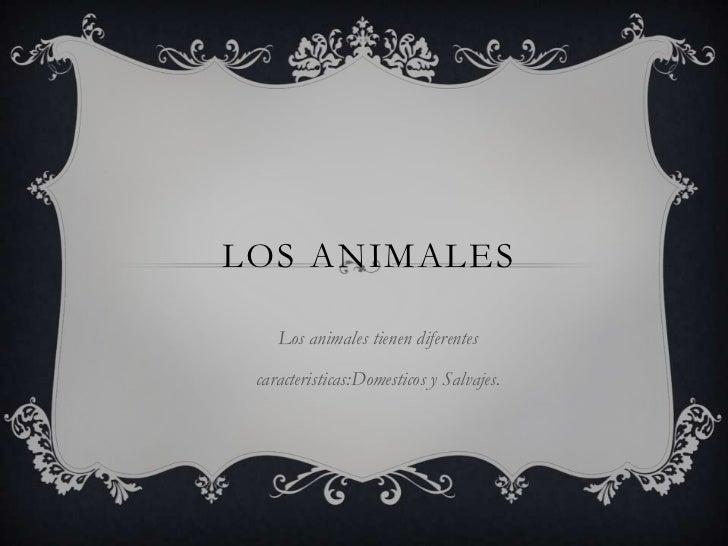 LOS ANIMALES    Los animales tienen diferentes caracteristicas:Domesticos y Salvajes.