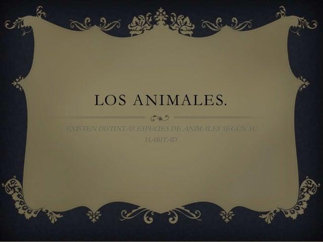 LOS ANIMALES.EXISTEN DISTINTAS ESPECIES DE ANIMALES SEGÚN SU                   HABITAD.