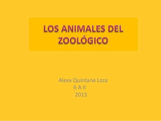 Alexa Quintana Loza 6 A II 2013