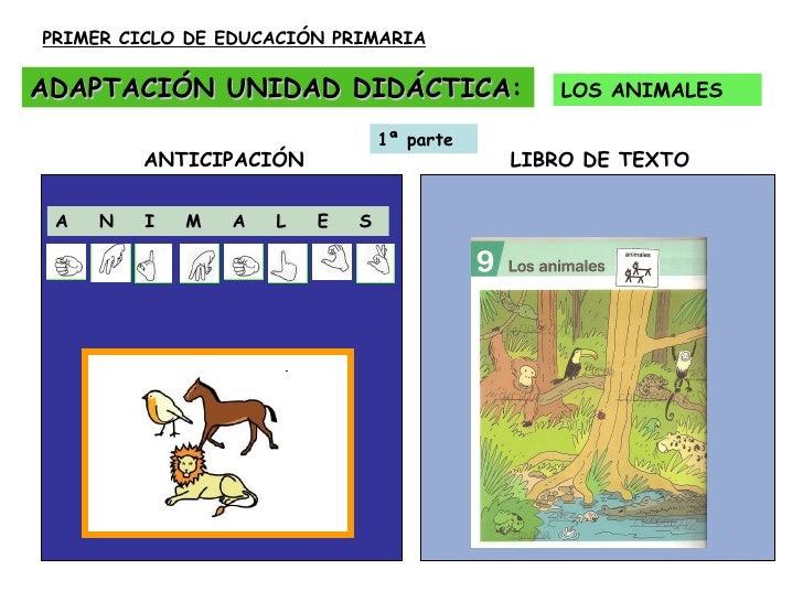 ADAPTACIÓN UNIDAD DIDÁCTICA : LOS ANIMALES PRIMER CICLO DE EDUCACIÓN PRIMARIA A  N  I  M  A  L  E  S ANTICIPACIÓN  LIBRO D...