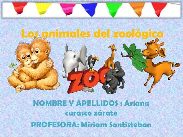 Los animales del zoológico NOMBRE Y APELLIDOS : Ariana curasco zárate PROFESORA: Miriam Santisteban