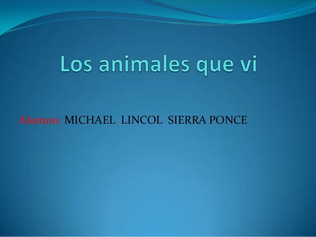 Alumno: MICHAEL LINCOL SIERRA PONCE