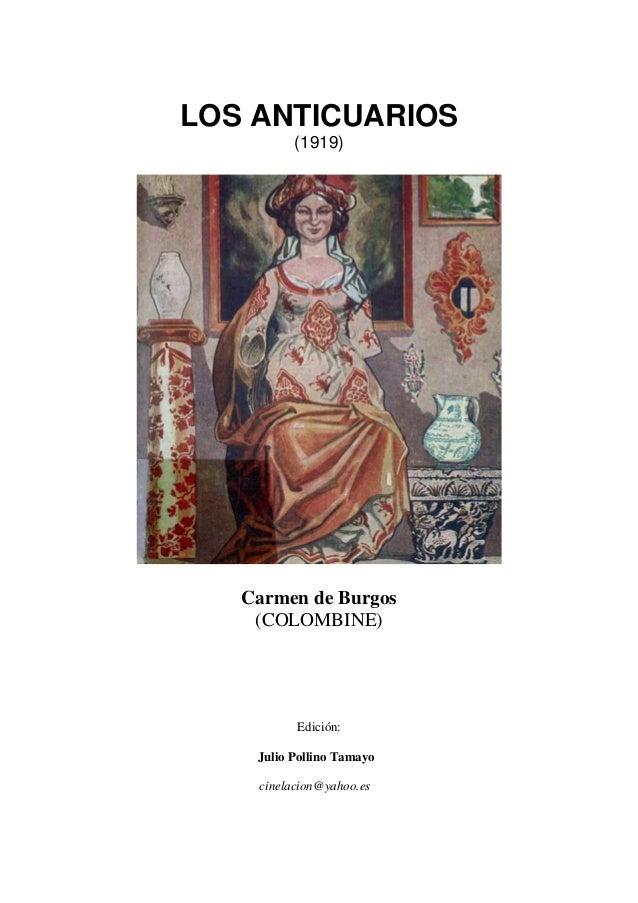 2cdddbb09 LOS ANTICUARIOS (1919) Carmen de Burgos