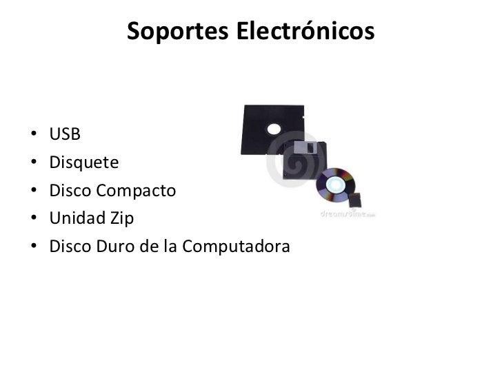 Los archivos electronicos
